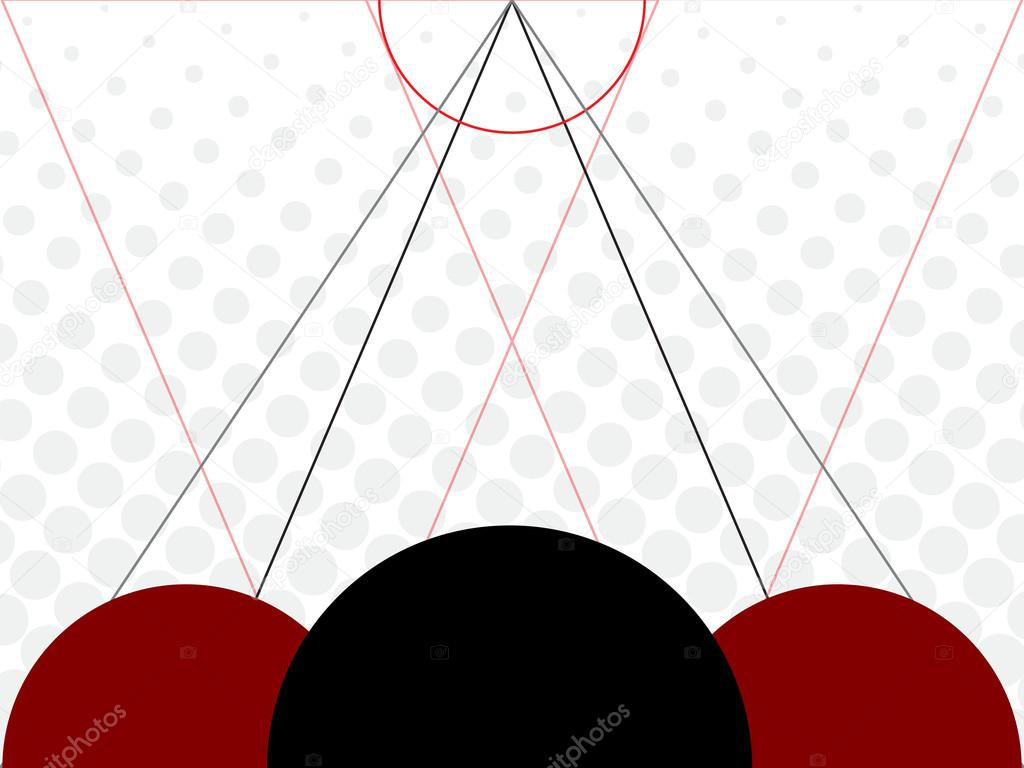 Abstract circles geometry background with lines — Stock