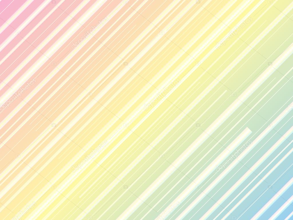 Pastel Rainbow Background With Diagonal Lines