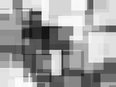 Abstract black white squares with shattered effect