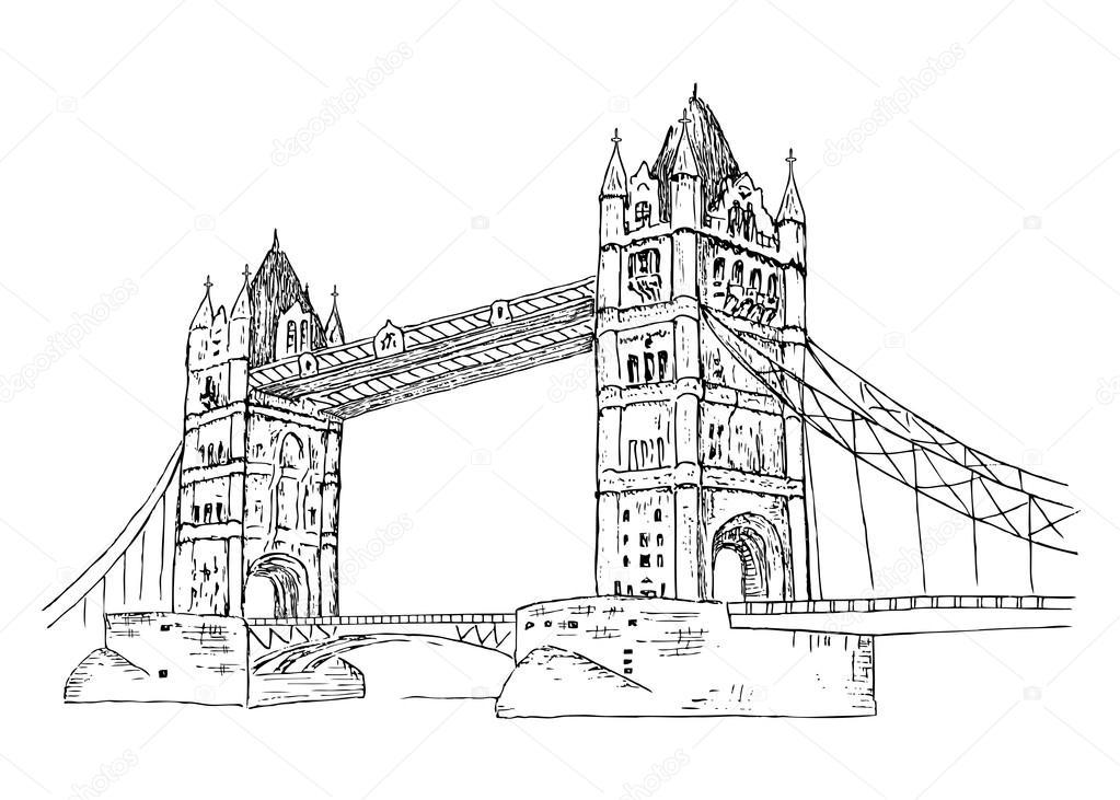 Мост рисунок