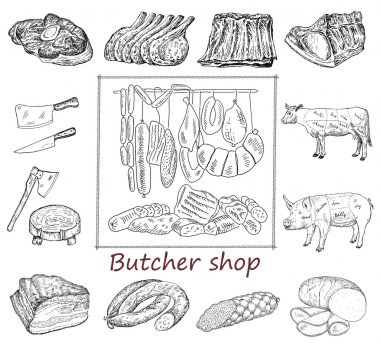 Butcher shop set