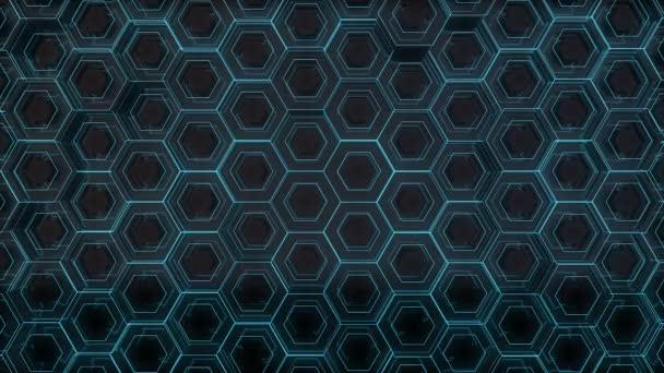 Futuristische blaue Sechsecke