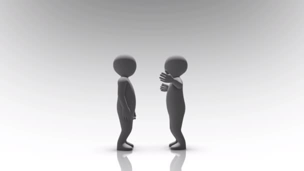 Zwei Menschen streiten und schreien miteinander Konzept 4k