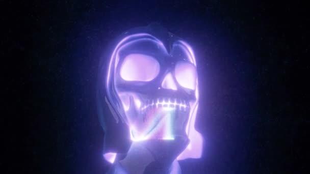 VJ Human Skull im Helm 4k