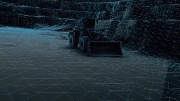 3D-Scannen von schweren Baumaschinen Bulldozer Loader