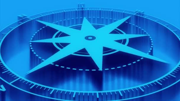 Flat Blue Compass 4k