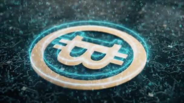 A Bitcoin 4K 3D animációja