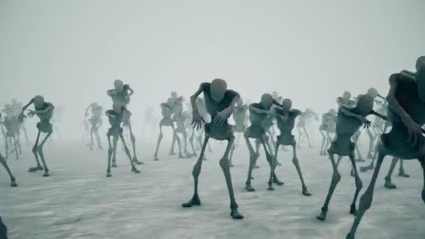 Děsivý zombie dav Walking 4k