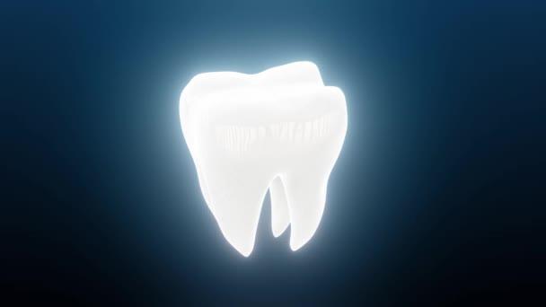 Aufgeweicht aussehende Zahnzähne rotierend 4k