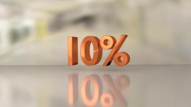 nakupování prodej červených čísel propagace sleva procenta animace realistické dynamické účinky video design obchodu koncept online rozvoj podnikání