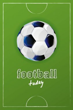 poster with football print and grass
