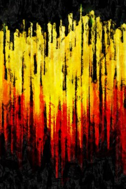 sunset abstraction oil painting