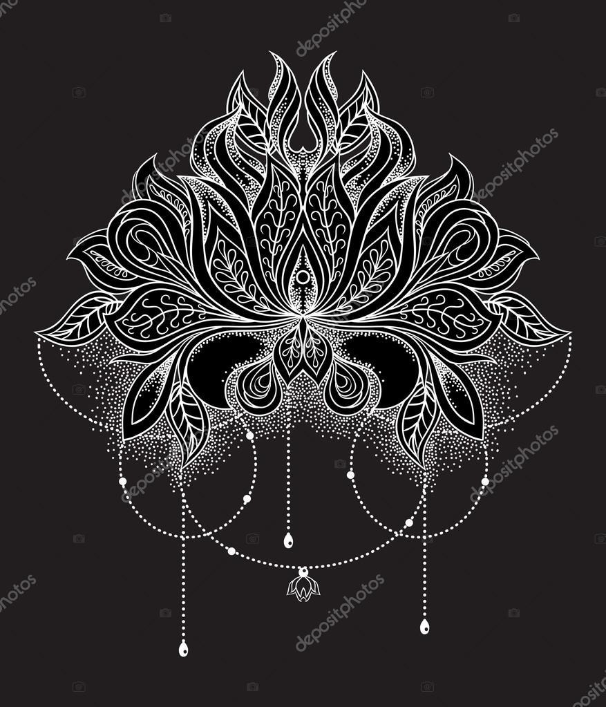 Fleur de lotus mandala galerie tatouage - Mandala fleur de lotus ...