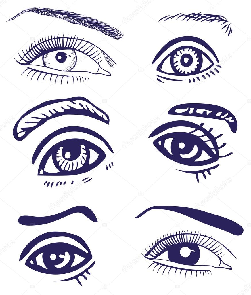 Drawing Eyes Stock Vector C Olga1983siv1 62256337