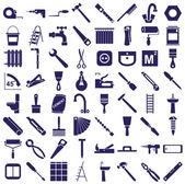 Fotografie Symbole für Reparaturwerkzeuge auf weiß