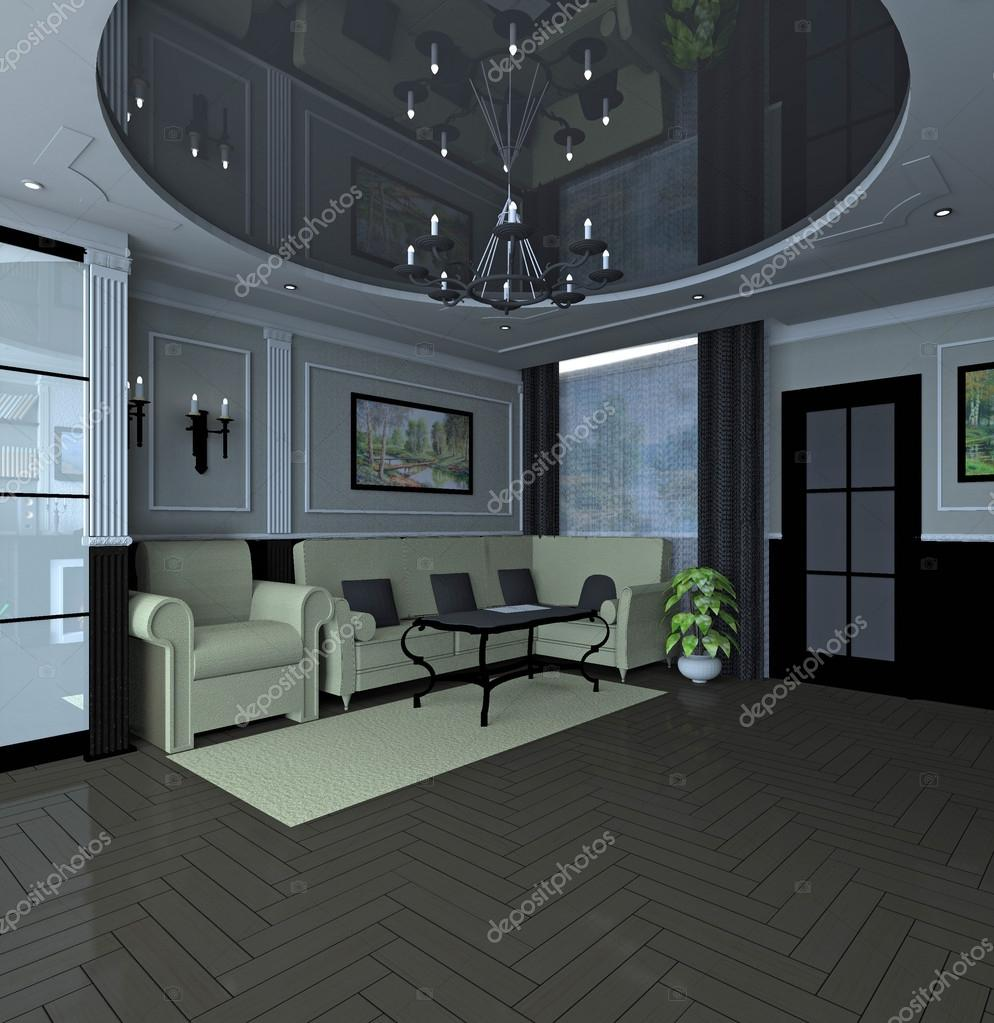 modern klassieke interieur — Stockfoto © Olga1983Siv1 #75818029