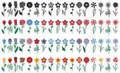 květiny na stonky ikony