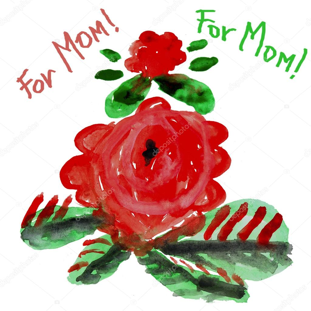 Fleurs Enfants Dessin Pour Maman Photographie Olga1983siv1