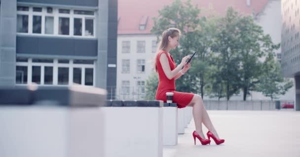 Business Woman using digital tablet