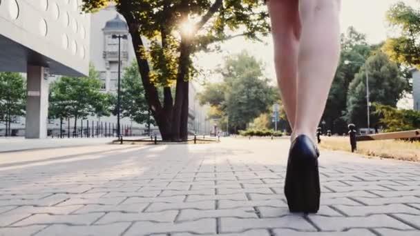 nohy sexy žena v černé boty