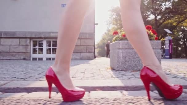 nohy sexy žena v červené boty