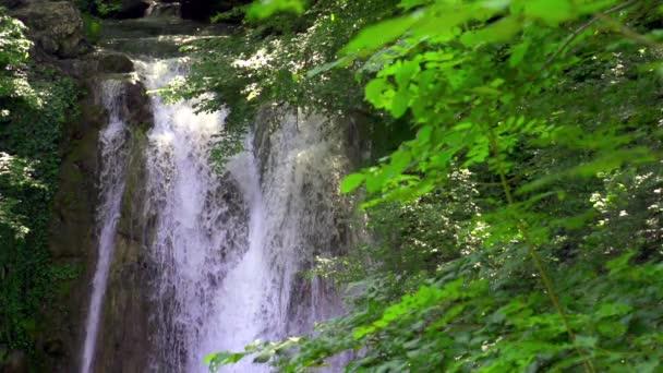 beautiful Waterfall in Mountains