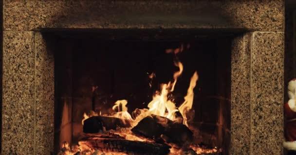 Warm cozy fireplace
