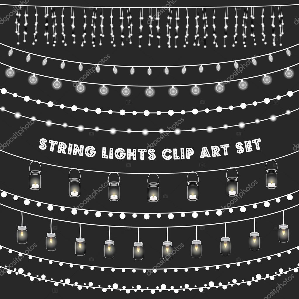 Chalkboard String Lights Set Stock Vector ? giraphics #108194226