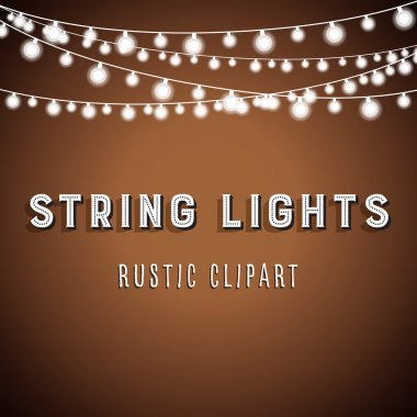 Rustic String Lights Background