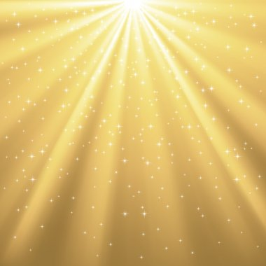 Golden Rays of Light and Stars