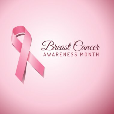 Breast Cancer Awareness ribbon on a pink background.  File is layered, and colors are global swatches for easy editing.  File is EPS 10 with transparency. clip art vector