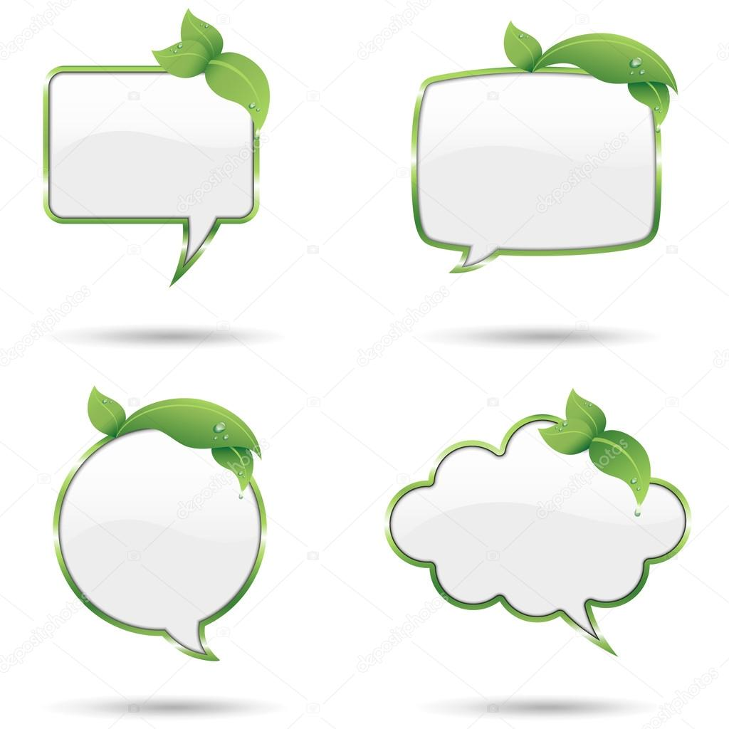 Leaf Speech Bubbles