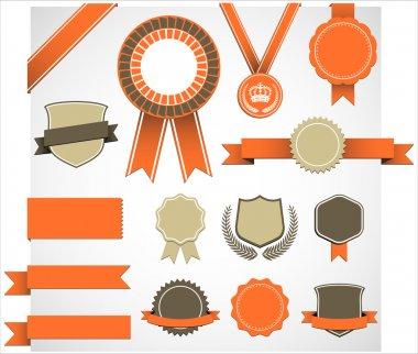 Retro Award Elements Set