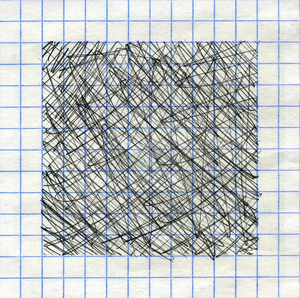Tinte Stift strukturierten Hintergrund Frame auf Math-Papier ...