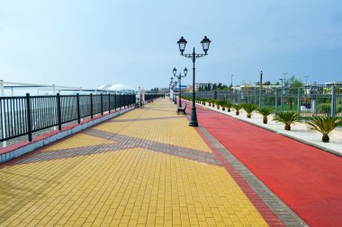 Sea embankment path poad, Sochi Russia