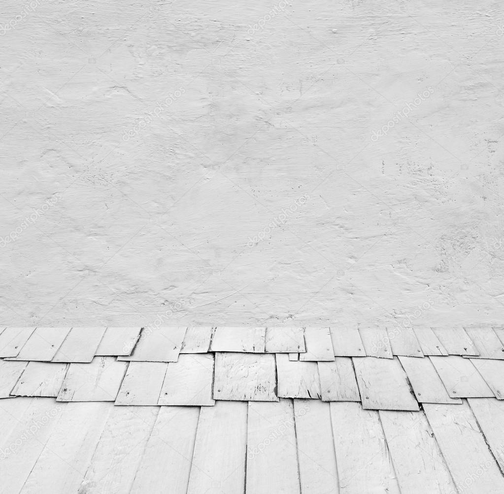 Intérieur : gris vieux mur de ciment peint avec plancher en ...