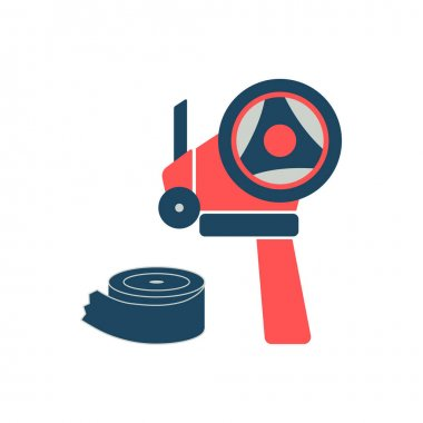 Adhesive tape dispenser and scotch icons - vector illustration. icon