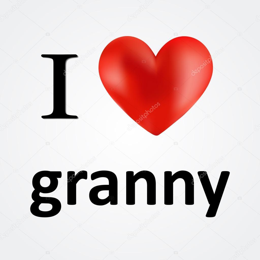 Te amo a abuela tarjetas — Archivo Imágenes Vectoriales © binik1 ...