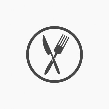 Crossed fork and knife icon