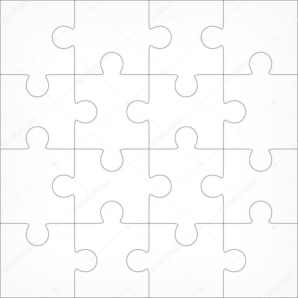Plantilla en blanco de rompecabezas 4 x 4 — Vector de stock © binik1 ...