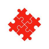 Fotografia Illustrazione di vettore di quattro pezzi del puzzle