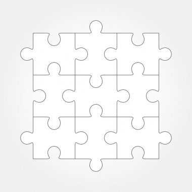 Jigsaw puzzle vector, nine pieces