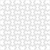 Fotografie Jigsaw puzzle, one hundred blank shapes