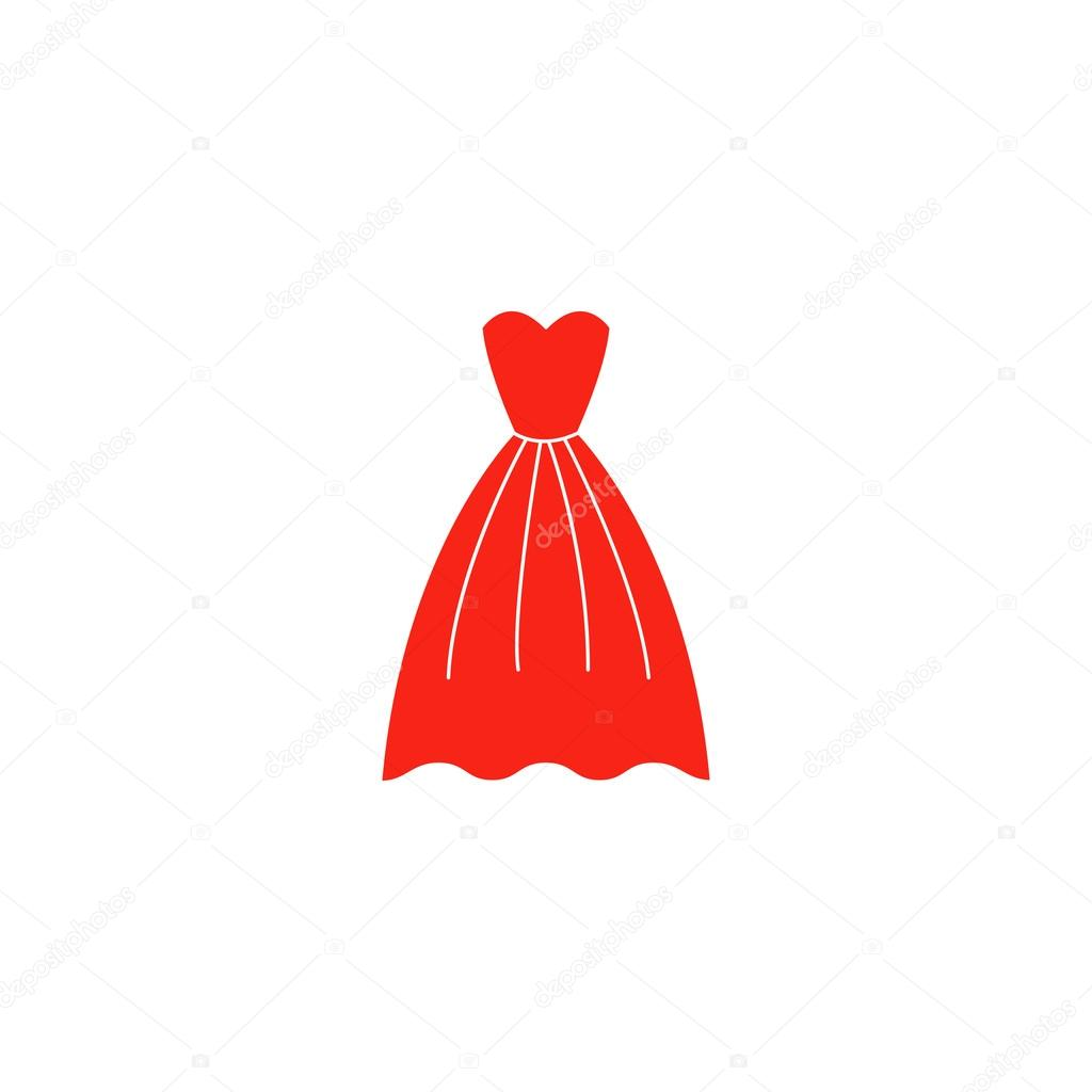 1453f923ad44cd Elegante rode jurk pictogram — Stockvector © binik1  94153562
