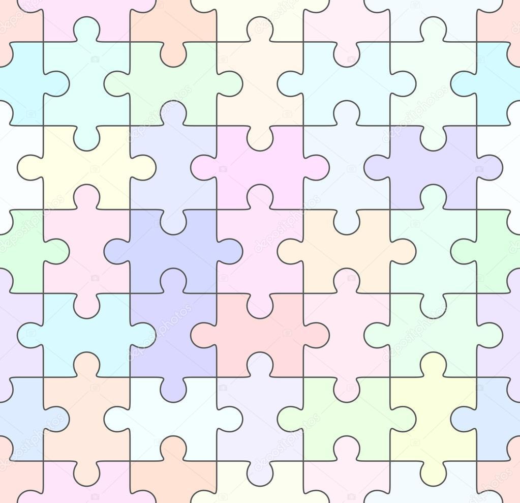 Jigsaw Puzzle leere nahtlose Vorlage — Stockvektor © binik1 #98285826