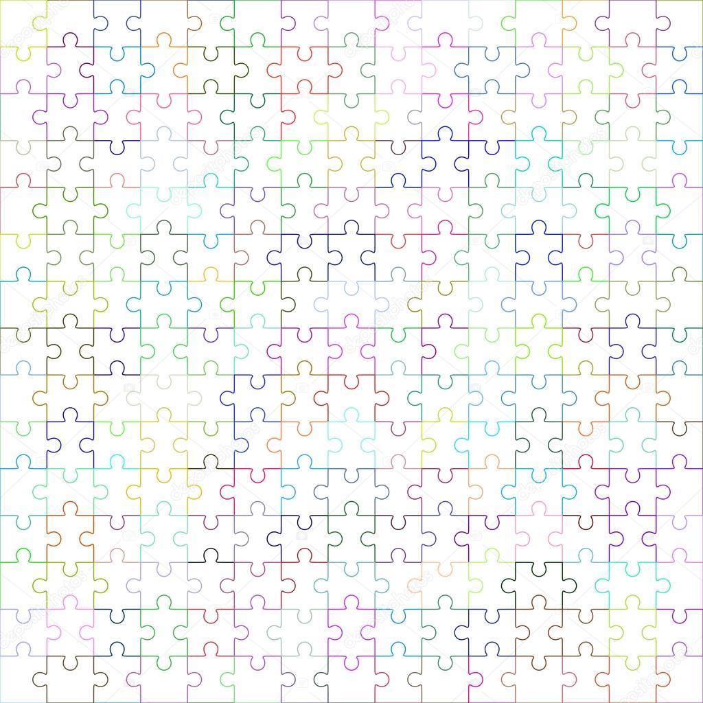 Jigsaw Puzzle-leere Vorlage 225 Teile — Stockvektor © binik1 #98487144