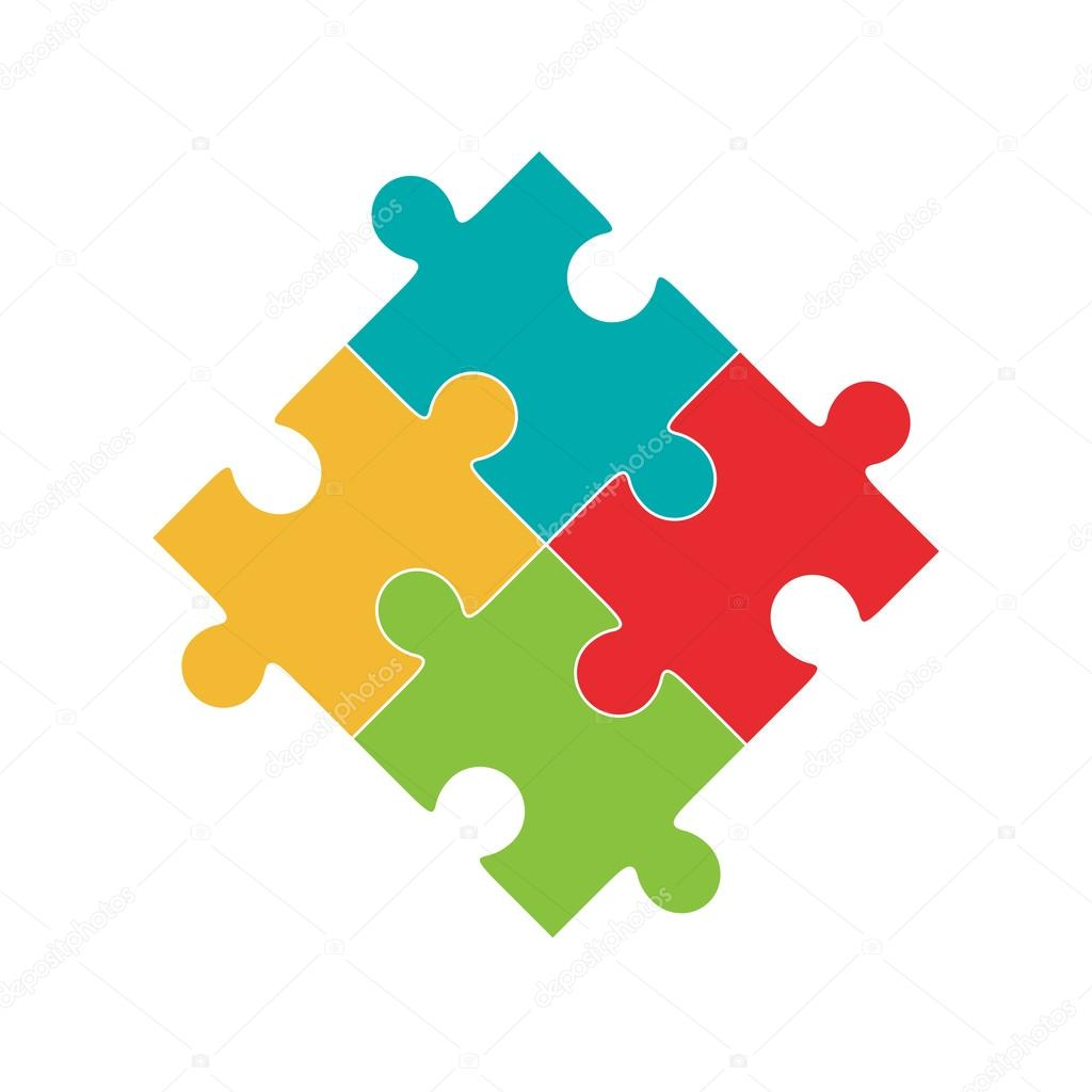 Colorful Jigsaw Puzzle Pieces Stock Vector