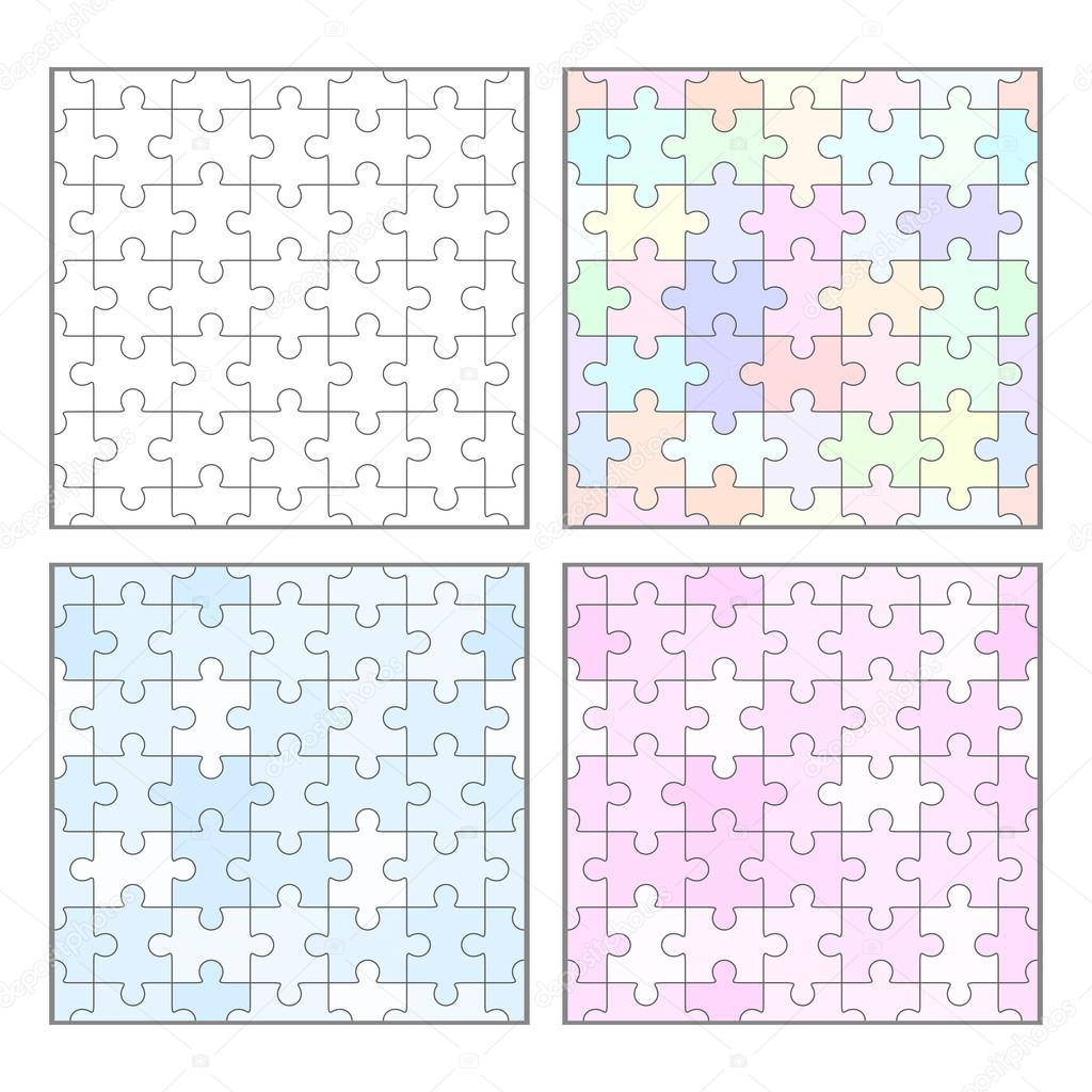 Jigsaw Puzzle leere nahtlose Vorlagen — Stockvektor © binik1 #99545238