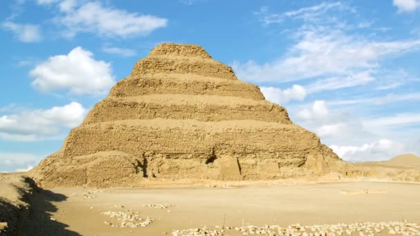 Timelapse of the famous Step Pyramid of Djoser in Saqqara