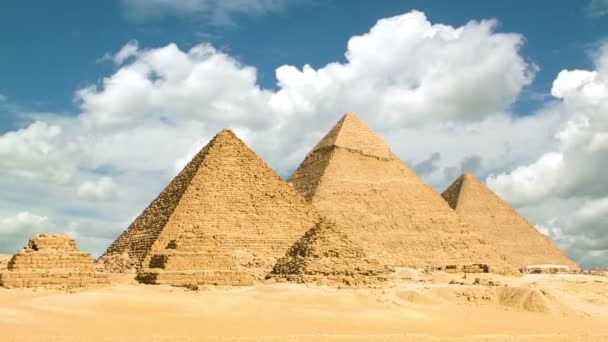 Timelapse of the great pyramids in Giza valley